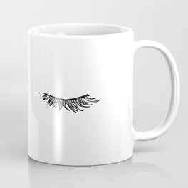 Closed eyes illustration - Lashes Coffee Mug