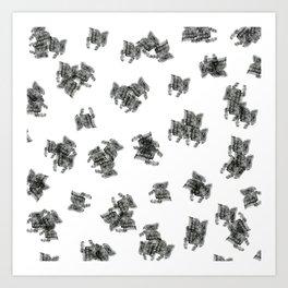 white hustle Art Print
