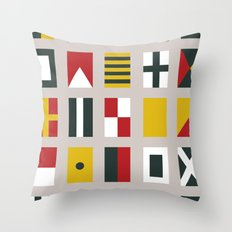 Nautical Flags Throw Pillow