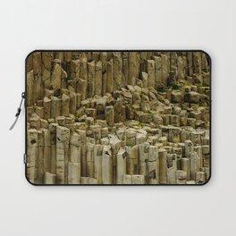 Basalt Columns in Iceland   Wild landscape   Travel Photography Laptop Sleeve