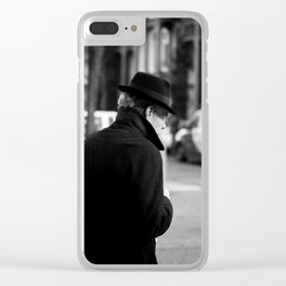 The Man in the Trench Coat Clear iPhone Case