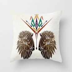 bison love Throw Pillow