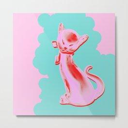 Pink Cat #3 Metal Print