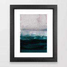 pale pink over dark teal Framed Art Print