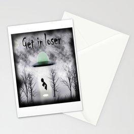 Retro Vintage Get In Loser Alien Gift Funny design Stationery Cards
