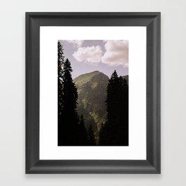 GO NORTH Framed Art Print