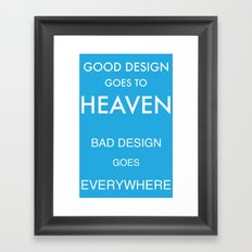 Good Design Framed Art Print