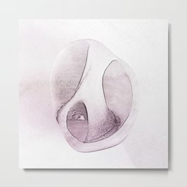 Bargara Shell One Mauve Metal Print