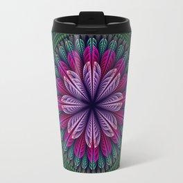 Summer mandala with fantasy flower and petals Travel Mug