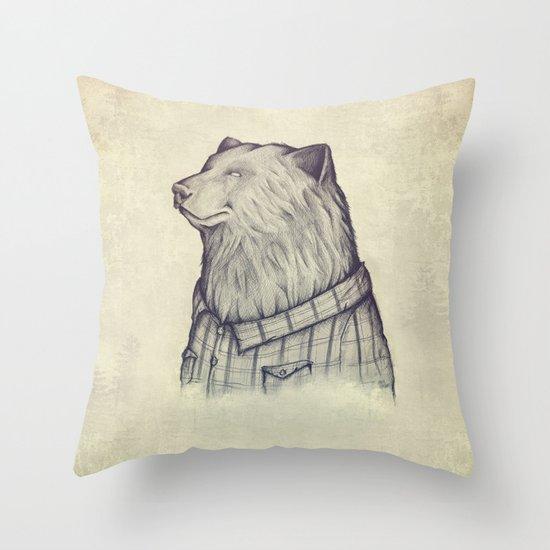 The Wild Lumberjack Throw Pillow