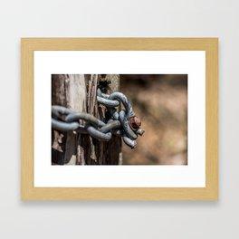Old Chain Framed Art Print