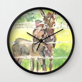 Donkey & Baby  Wall Clock
