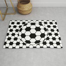 Black and White 3D Ball pattern deign Rug