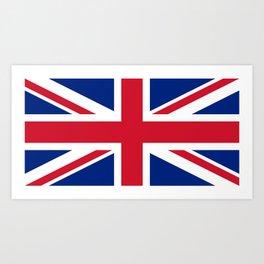 UK FLAG - Union Jack Authentic 1:2 scale  Art Print
