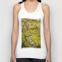 river Tank Tops featuring River by Julie Luke