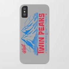 Visit Twin Peaks (hot pink) Slim Case iPhone X
