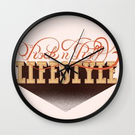 Rock n' Roll Lifestyle Wall Clock
