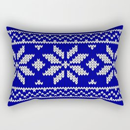 Winter Knitted Pattern II Rectangular Pillow