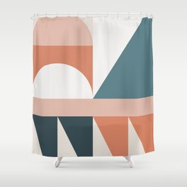 Cirque 03 Abstract Geometric Shower Curtain