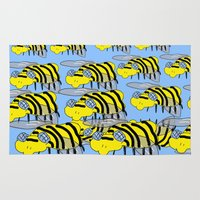 bees Area & Throw Rugs featuring Bees by David Abse