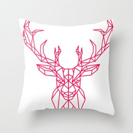 Reindeer Christmas Gift Sledge Funny Throw Pillow