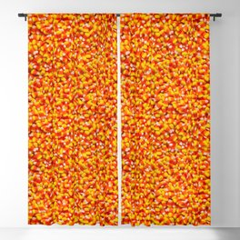 Candy Corn Halloween Candy Photo Pattern Blackout Curtain