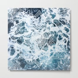 Ocean Mandala - My Wild Heart Metal Print
