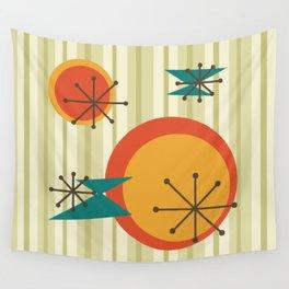 Retro Stripes & Shapes Wall Tapestry