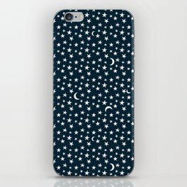Night Time Moon & Star Pattern iPhone Skin