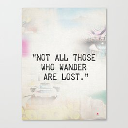 Not all are lost Canvas Print