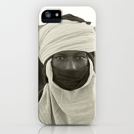 'African pride' - Mohamed from Timbuktu iPhone Case