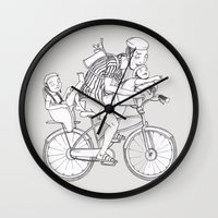 bicycle Wall Clocks featuring bicycle by Madmi