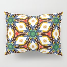 Jewel tones Watercolors Geometric Kaleidoscope Pillow Sham