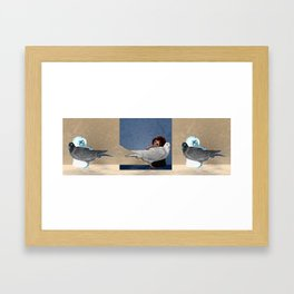 The conception of love and peace Framed Art Print