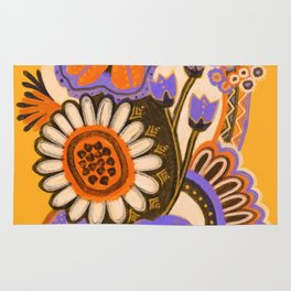 Psychedelic Flowers Rug