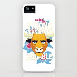 Taurus Zodiac Horoscope Bull Spirit Animal iPhone Case