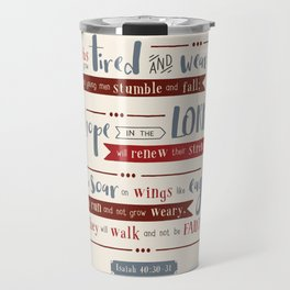 """Hope in the Lord"" Hand-Lettered Bible Verse Travel Mug"