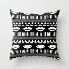 TRIBAL White and Black Throw Pillow
