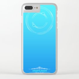 Arcane Gradient twilight teal blue Clear iPhone Case