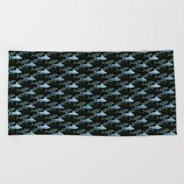 Swimming Sharks Beach Towel