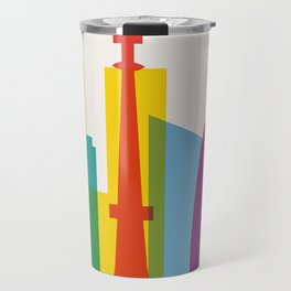 Shapes of Tokyo. Accurate to scale. Travel Mug