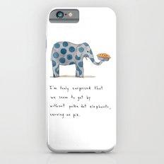 polka dot elephants serving us pie Slim Case iPhone 6