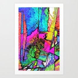Scraped Away Art Print