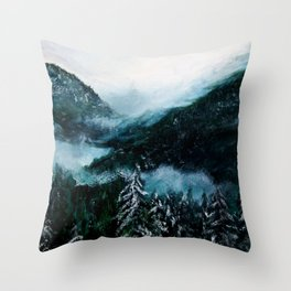 Soft Silence of Winter  Throw Pillow