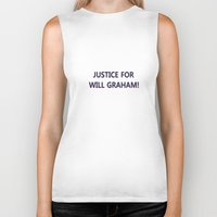 will graham Biker Tanks featuring Justice for Will Graham by TheseRmyDesigns