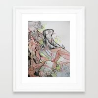 hippo Framed Art Prints featuring Hippo  by Joanna Rockwell