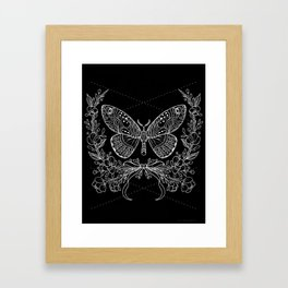 Moth Floral Framed Art Print