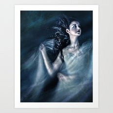 The Wind Was Her Element Art Print