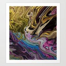 Pour a Flat Square Marble Art Print