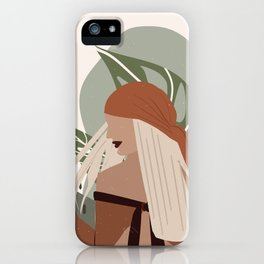 Girl In the Wilderness iPhone Case